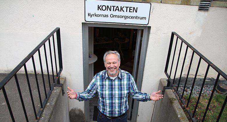 Lennart Åkerlund, föreståndare för Kyrkornas Omsorgscentrum Kontakten i Kungälv.